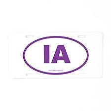 Iowa IA Euro Oval Aluminum License Plate