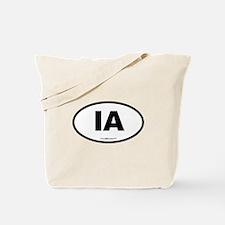 Iowa IA Euro Oval Tote Bag