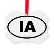 Iowa IA Euro Oval Ornament