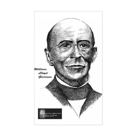 William Lloyd Garrison Rectangle Sticker