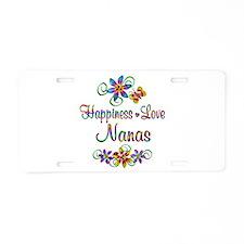 Nanas Love Aluminum License Plate