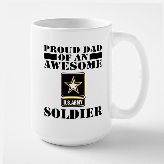 Proud U.S. Army Dad Large Mug