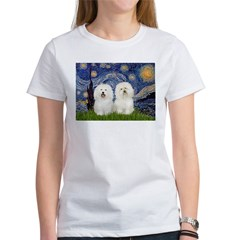 Starry Night / 2 Bolognese Women's T-Shirt