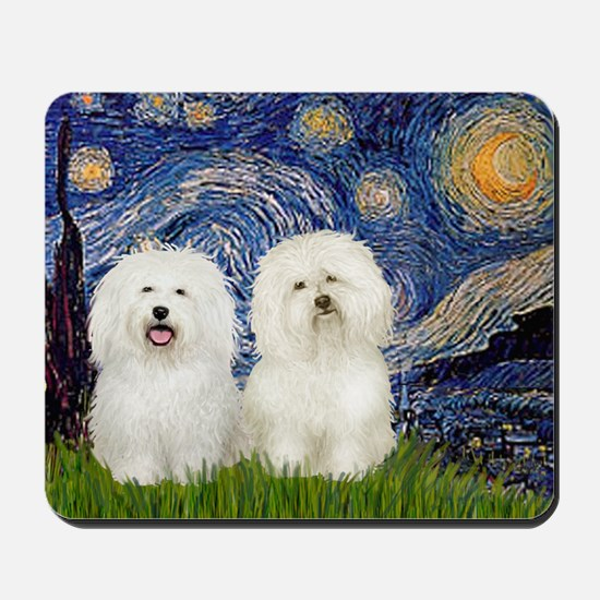 Starry Night / 2 Bolognese Mousepad