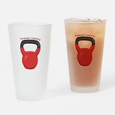 Sweat Happy Drinking Glass