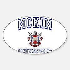MCKIM University Oval Decal