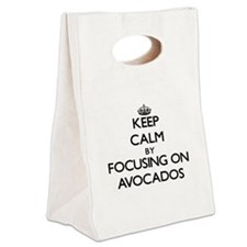 Keep Calm by focusing on Avocado Canvas Lunch Tote