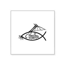 cthulhublackovalsticker Sticker