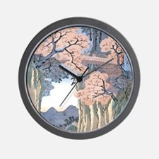 Monkey Bridge Kai, Hiroshige Wall Clock