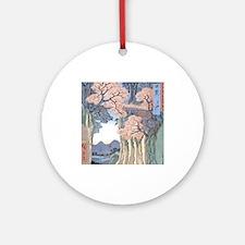 Monkey Bridge Kai, Hiroshige Ornament (Round)