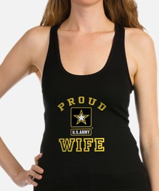 Proud U.S. Army Wife Racerback Tank Top