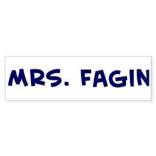 Mrs. Fagin Bumper Car Sticker