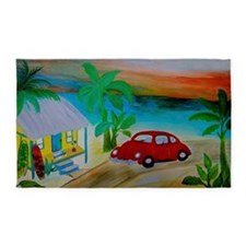 Surf Beach House 3'x5' Area Rug