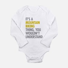 Mountain Biking Thing Long Sleeve Infant Bodysuit