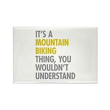 Mountain Biking Thing Rectangle Magnet