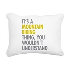 Mountain Biking Thing Rectangular Canvas Pillow