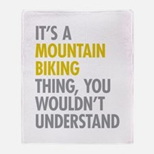 Mountain Biking Thing Throw Blanket