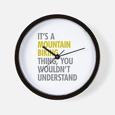 Mountain Biking Thing Wall Clock