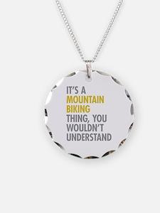 Mountain Biking Thing Necklace