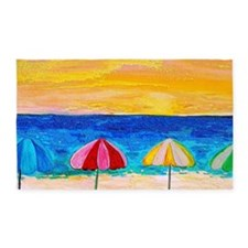 Beach Umbrellas 3'x5' Area Rug