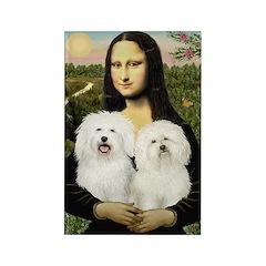 Mona's 2 Bolognese Rectangle Magnet (10 pack)