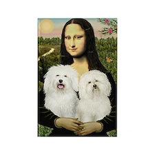 Mona's 2 Bolognese Rectangle Magnet