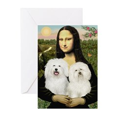 Mona's 2 Bolognese Greeting Cards (Pk of 10)