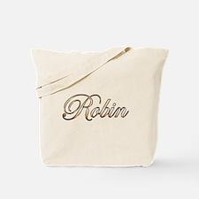 Gold Robin Tote Bag