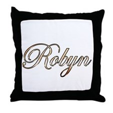 Gold Robyn Throw Pillow