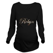 Gold Robyn Long Sleeve Maternity T-Shirt