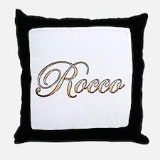 Gold Rocco Throw Pillow