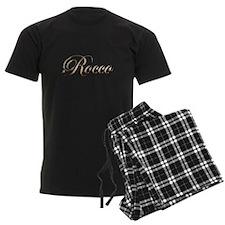 Gold Rocco Pajamas