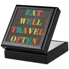 Travel Quote Keepsake Box