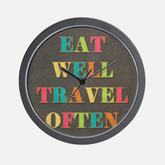 Travel Quote Wall Clock