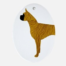 Brindle Boxer Ornament (Oval)
