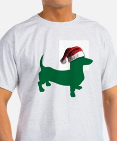 Christmas Green Dachshund T-Shirt