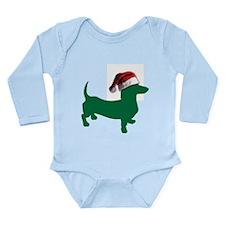 Christmas Green Dachshund Body Suit