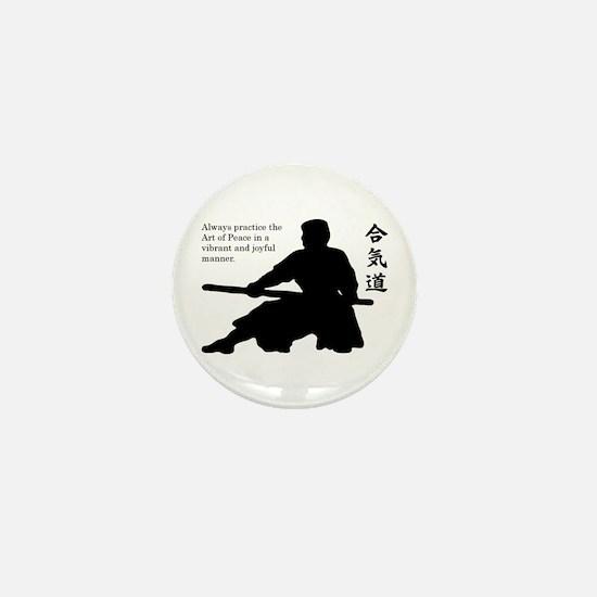 Aiki Jo Mini Button