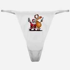 Santa Claus and his Reindeer Classic Thong