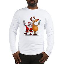 Santa Claus and his Reindeer Long Sleeve T-Shirt