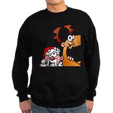 Santa Claus and his Reindeer Sweatshirt