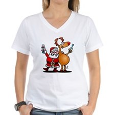 Santa Claus and his Reindee Shirt