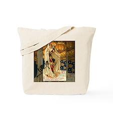 Vintage Halloween Jack O Lantern Girl Tote Bag