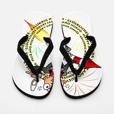 Happy New Year Flip Flops