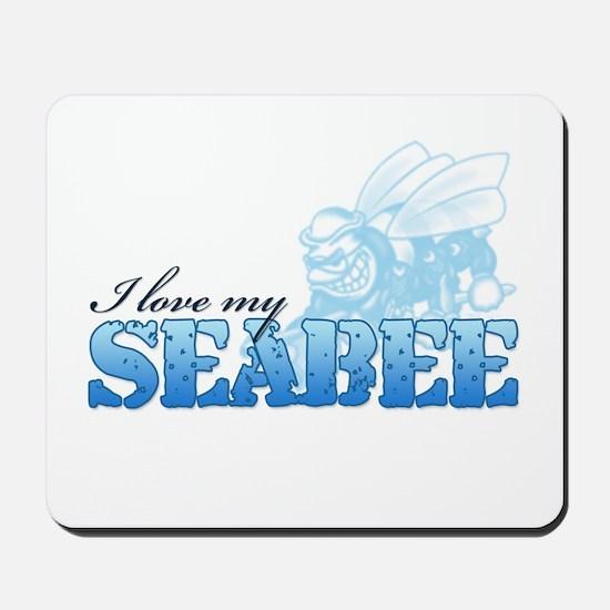 I Love My Seabee Mousepad
