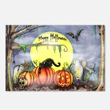 Halloween Scene Postcards (Package of 8)