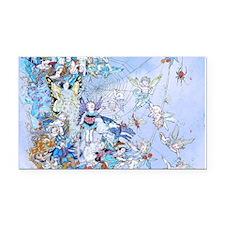 Fairy Queen's Web Kids Rectangle Car Magnet