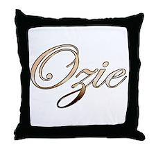 Gold Ozie Throw Pillow