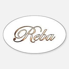 Gold Reba Decal