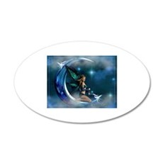 Fairy Angel Moon Butterfly Wings Wall Decal